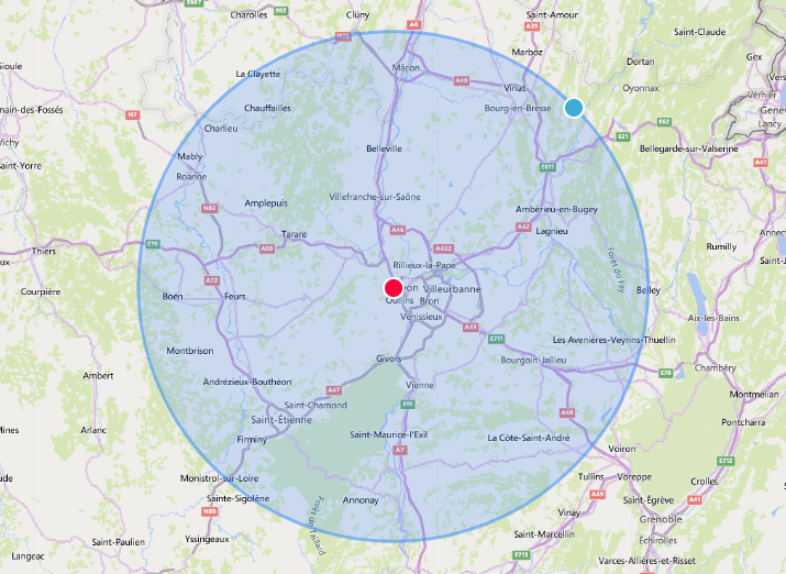 Map zone d'intervention